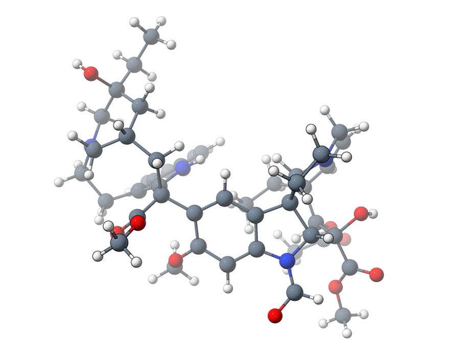 Vincristine, C4D, drug molecule